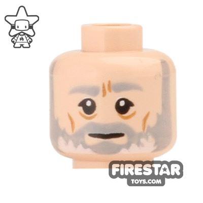 LEGO Mini Figure Heads - Obi-Wan Kenobi - Gray and White Beard