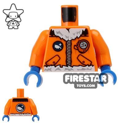 LEGO Mini Figure Torso - Arctic Explorer Jacket - Orange