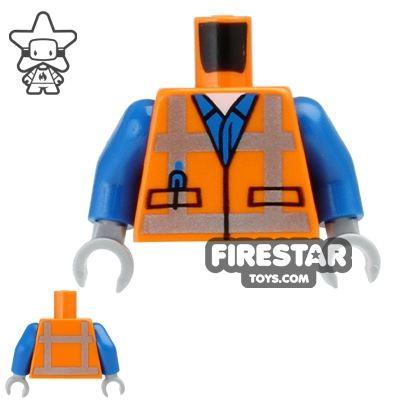 LEGO Mini Figure Torso - Orange Safety Vest