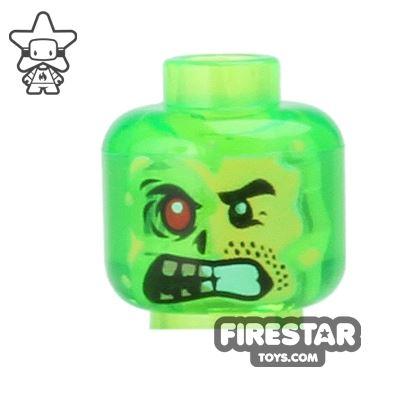 LEGO Mini Figure Heads - Trans Green Monster