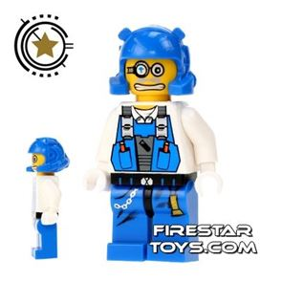 LEGO Power Miners Mini Figure - Power Miner Brains Scared