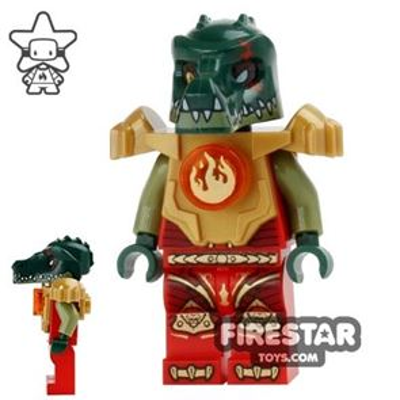 LEGO Legends of Chima Mini Figure - Cragger Fire Chi - Armour