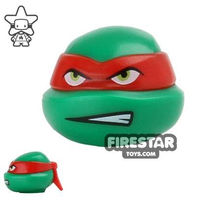 LEGO Mini Figure Heads - Teenage Mutant Ninja Turtles - Raphael Scowl