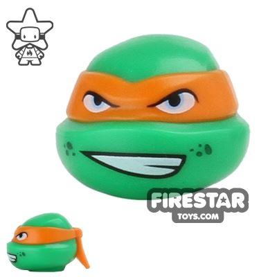LEGO Mini Figure Heads - Teenage Mutant Ninja Turtles - Michelangelo Grin