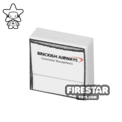 Printed Tile 1x1 - Sick Bag - Brickish Airways
