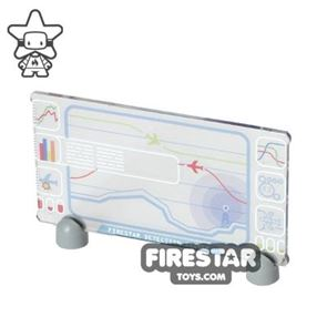 Printed Window Glass 1x4x6 - Missile Detection HUD