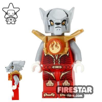 LEGO Legends of Chima Mini Figure - Worriz Fire Chi - Armour