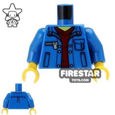LEGO Mini Figure Torso - Jacket and Sweater