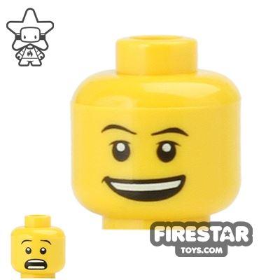 LEGO Mini Figure Heads - Open Smile / Scared
