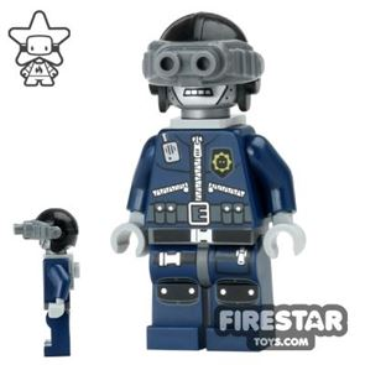 The LEGO Movie Mini Figure - Robo SWAT - Goggles and Neck Bracket