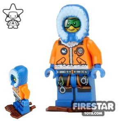 LEGO City Mini Figure - Arctic Explorer - Snowshoes