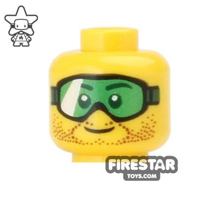 LEGO Mini Figure Heads - Green Goggles