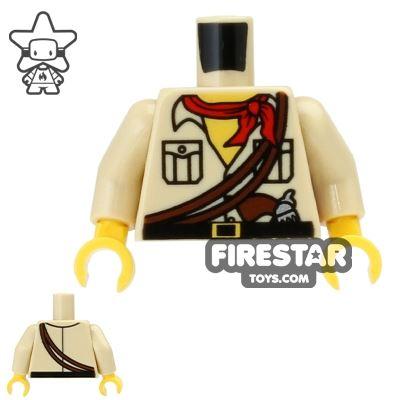 LEGO Mini Figure Torso - Desert Safari Shirt