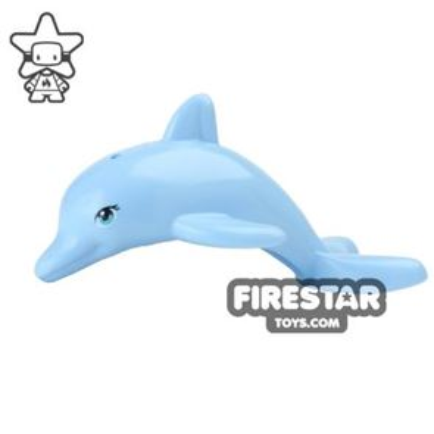 LEGO Animals Mini Figure - Dolphin - Bright Light Blue
