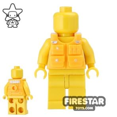 BrickForge - Tactical Vest - Rescue Print - Bright Light Orange