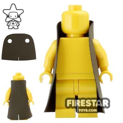 Custom Design Cape - Trenchcoat - Round Collar - Dark Brown
