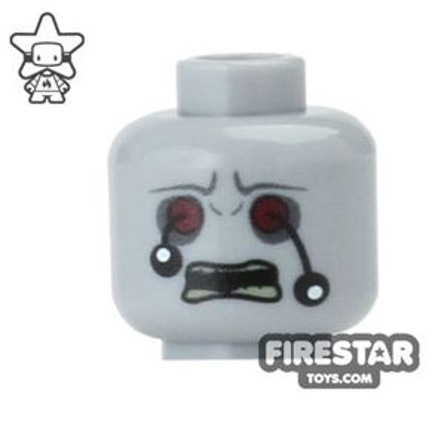 Custom Mini Figure Heads - Zombie - Eyeballs Hanging Out