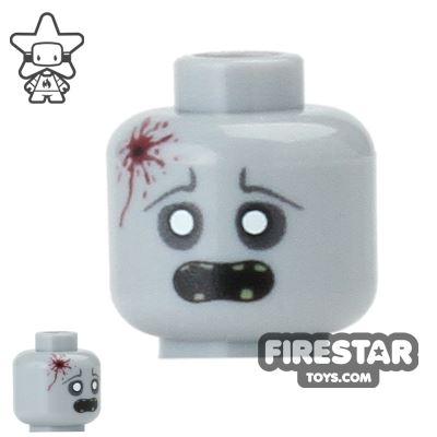 Custom Mini Figure Heads - Zombie - Headshot Wound