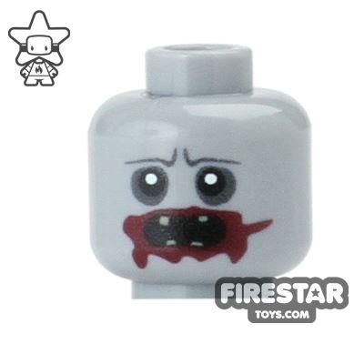Custom Mini Figure Heads - Hungry Zombie with Blood