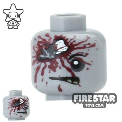 Custom Mini Figure Heads - Zombie - Brain Damage