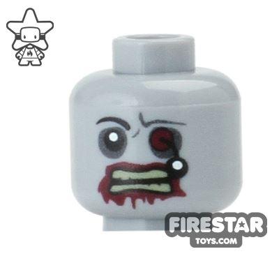 Custom Mini Figure Heads - Zombie with Bloody Eyeball