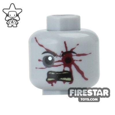 Custom Mini Figure Heads - Zombie Bullseye