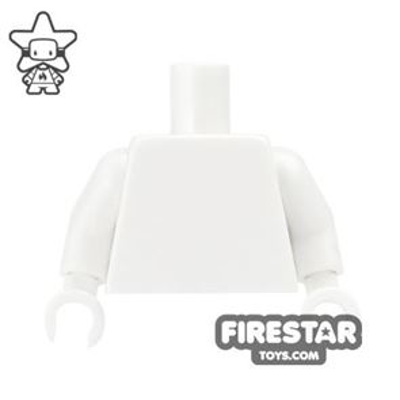 LEGO Mini Figure Torso - Plain White - White Hands