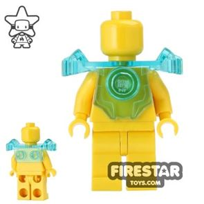 LEGO - Armour Breastplate with Shoulder Guard - Trans-Light Blue