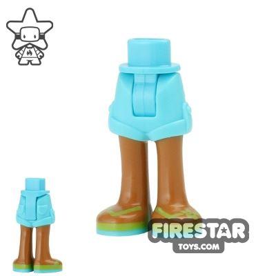 LEGO Friends Mini Figure Legs - Medium Azure Shorts and Sandals