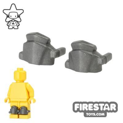 BrickWarriors - Greaves - Pair - Steel