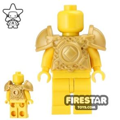 BrickWarriors - Viking Armour - Pearl Gold