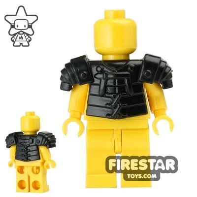 BrickWarriors - Lorica Segmentata Armour - Black