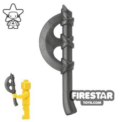 BrickWarriors - Crescent Axe - Steel