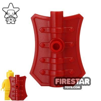 BrickWarriors - Pavise Shield - Dark Red