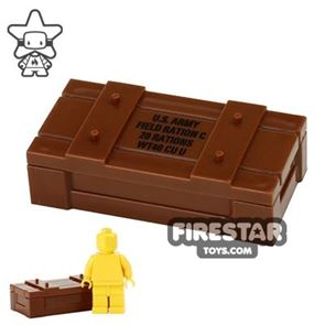 BrickForge - Weapons Crate - RIGGED System - Reddish Brown US Field Rations