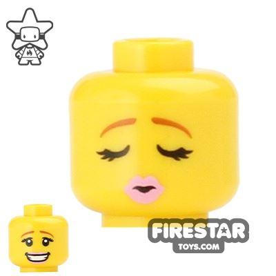 LEGO Mini Figure Heads - Closed Eyes - Kiss