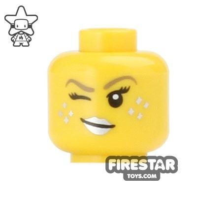 LEGO Mini Figure Heads - Wink - Silver Lips