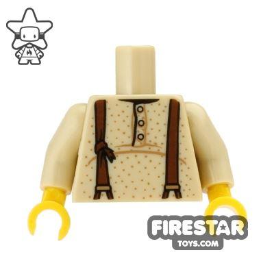 LEGO Mini Figure Torso - Prospector Shirt and Braces