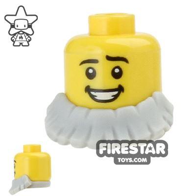 LEGO Hair - Beard Short - Light Blueish Gray