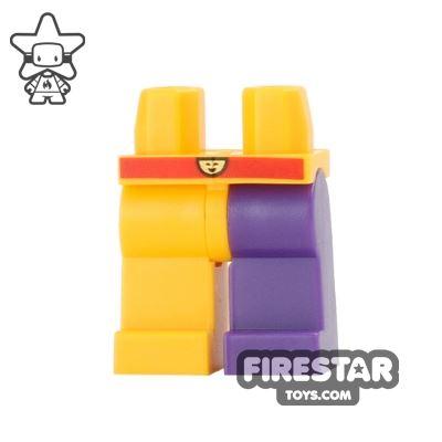 LEGO Mini Figure Legs - Jester - Orange and Purple