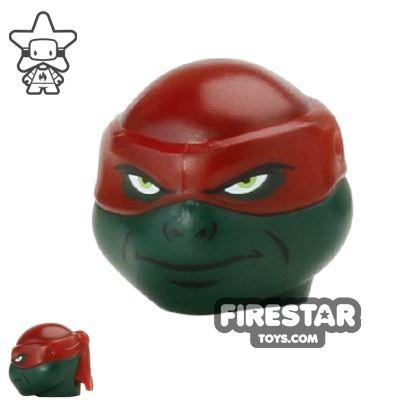 LEGO Mini Figure Heads - Teenage Mutant Ninja Turtles - Raphael Bandana