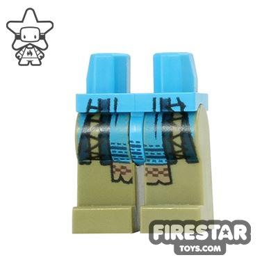 LEGO Mini Figure Legs - Teenage Mutant Ninja Turtles - Blue Armour