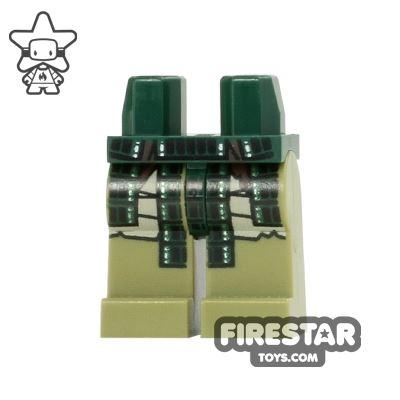 LEGO Mini Figure Legs - Teenage Mutant Ninja Turtles - Dark Green Armour