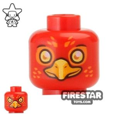 LEGO Mini Figure Heads - Phoenix - Flinx