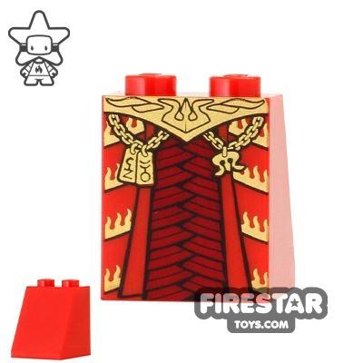 LEGO Mini Figure Legs - Phoenix - Red and Gold Robe