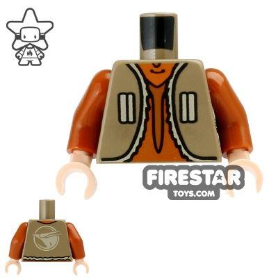 LEGO Mini Figure Torso - Ezra Bridger - Tan Vest