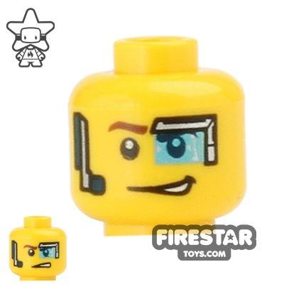 LEGO Mini Figure Heads - Eye Visor and Headset