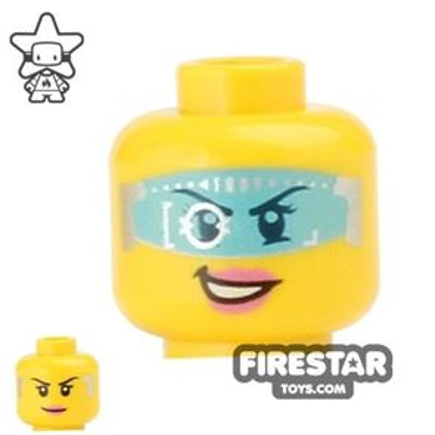 LEGO Mini Figure Heads - Blue Space Visor