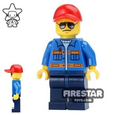 LEGO City Mini Figure - Cap and Sunglasses