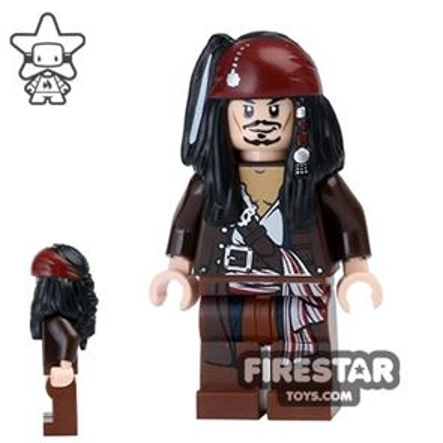 LEGO Pirates Of The Caribbean Mini Figure - Captain Jack Sparrow - Jacket